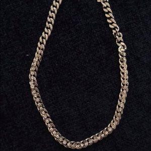 Banana Republic: Silver diamond necklace